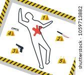 crime scene. danger tapes.... | Shutterstock .eps vector #1059713882