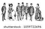 ladies and gentlemen. man and...   Shutterstock . vector #1059722696