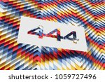 white paper cut number 444 on... | Shutterstock . vector #1059727496