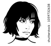 beautiful girl portrait. bob... | Shutterstock .eps vector #1059732638