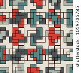 repeated creative puzzle mosaic ... | Shutterstock .eps vector #1059735785