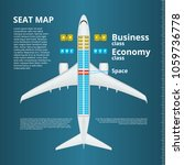 airplane business or economy... | Shutterstock .eps vector #1059736778