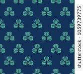 seamless pattern  leaf art ... | Shutterstock .eps vector #1059739775