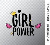 vector girl power label or...   Shutterstock .eps vector #1059742436