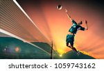 male professional volleyball... | Shutterstock . vector #1059743162