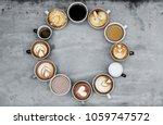 aerial view of various coffee | Shutterstock . vector #1059747572