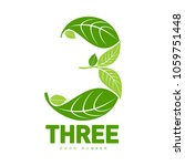 number three logo templates.... | Shutterstock . vector #1059751448
