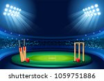 cricket stadium background.... | Shutterstock . vector #1059751886