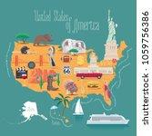 map of usa vector illustration  ...   Shutterstock .eps vector #1059756386