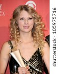 taylor swift in the press room...   Shutterstock . vector #105975716