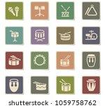 rhythm instruments web icons...   Shutterstock .eps vector #1059758762