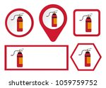 fire extinguisher icon  safety... | Shutterstock .eps vector #1059759752