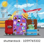 international airport concept.... | Shutterstock .eps vector #1059765332