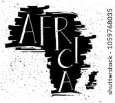 africa. handwritten lettering...   Shutterstock .eps vector #1059768035