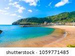 beach on machico bay  madeira... | Shutterstock . vector #1059771485