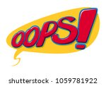 lettering emotional text oops...   Shutterstock .eps vector #1059781922