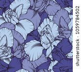 seamless floral pattern.... | Shutterstock .eps vector #1059784502
