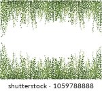 ivy wall background. greenery... | Shutterstock .eps vector #1059788888