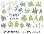 vector set with isolated... | Shutterstock .eps vector #1059789176