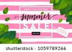 summer fashion stylish sale... | Shutterstock .eps vector #1059789266