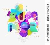 summer typographic poster.... | Shutterstock .eps vector #1059796415