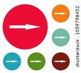 arrow icons circle set isolated ...