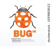 bug insect geometric paper... | Shutterstock .eps vector #1059803012