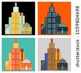 set of skyscrapers buildings... | Shutterstock .eps vector #1059804698