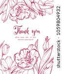 floral background. hand drawn... | Shutterstock .eps vector #1059804932