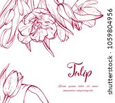 floral background. hand drawn... | Shutterstock .eps vector #1059804956