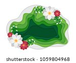 spring park with flowers. urban ... | Shutterstock .eps vector #1059804968