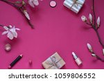 beauty frame with gifts ...   Shutterstock . vector #1059806552