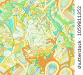 tracery seamless pattern.... | Shutterstock .eps vector #1059811352
