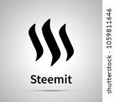 steemit cryptocurrency simple... | Shutterstock . vector #1059811646