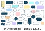 speech bubble doodles set.... | Shutterstock .eps vector #1059812162