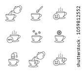 preparing tea vector icons set... | Shutterstock .eps vector #1059812552