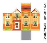 make your own toy house paper... | Shutterstock .eps vector #1059814466