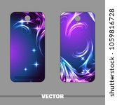 set of bright covers for mobile ...   Shutterstock .eps vector #1059816728