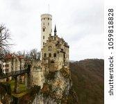 lichtenstein castle baden w... | Shutterstock . vector #1059818828