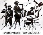 jazz band. jazz swing orchestra.... | Shutterstock . vector #1059820016