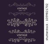 vintage decorations elements.... | Shutterstock .eps vector #1059821702