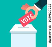 voting concept in flat style  ...   Shutterstock .eps vector #1059827222
