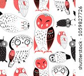 vector seamless graphic pattern ... | Shutterstock .eps vector #1059827726