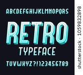 retro alphabet font. vintage... | Shutterstock .eps vector #1059832898