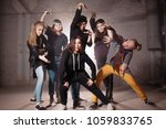 final pose of young people in...   Shutterstock . vector #1059833765