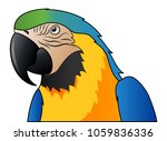 cute parrot macaw cartoon... | Shutterstock .eps vector #1059836336