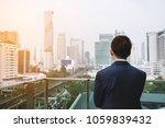 businessman in blue suit... | Shutterstock . vector #1059839432