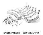 delicious fried meat steak... | Shutterstock .eps vector #1059839945