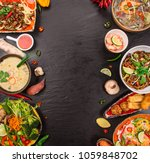 various of asian meals on... | Shutterstock . vector #1059848702