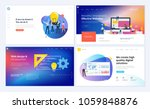 set of creative website... | Shutterstock .eps vector #1059848876